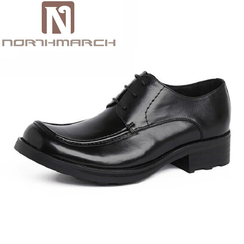 NORTHMARCH European Style Mens Dress Shoes Genuine Leather Luxury Brand Wedding Shoes Men Flats Office Male Chaussure Homme 2017 zapato oxford azul formal wedding men shoes mens summer dress black pointed shoes chaussure homme new brand men leather flats