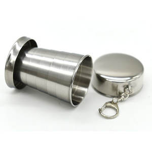 elenxs All stainless steel retractable folding cup