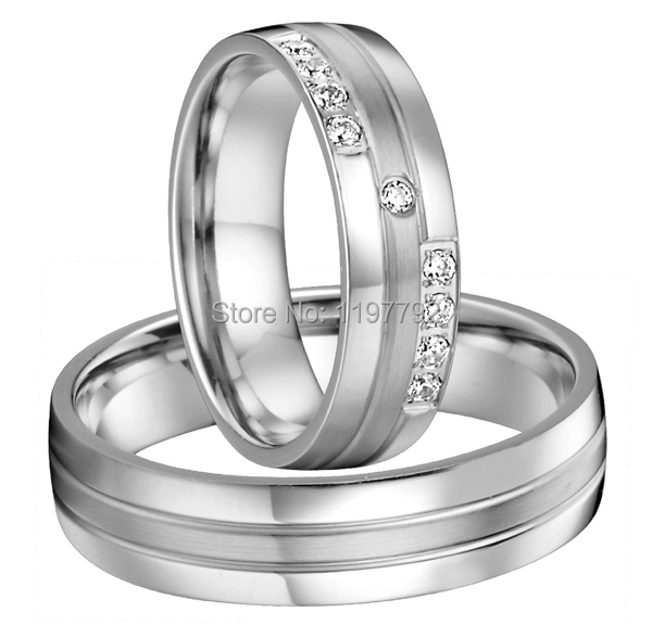 custom tailor made silver color health surgical titanium wedding bands rings sets for him and her in rings from jewelry accessories on aliexpresscom - Titanium Wedding Rings For Her