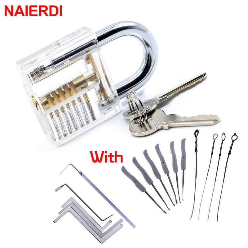 NAIERDI практический замок с сломанной для удаления ключа фиксатор крючков комплект слесарный ключ ряд инструмент для натяжения экстрактор Набор Мебели Оборудование
