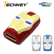 Metal usb flash drive 64gb iron man pen drive 32gb flash disk USB 8GB 16GB 32GB pendrive silver memory stick The key