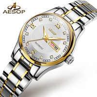 AESOP Uhr Frauen Automatische Mechanische Uhr Armband Damen Handgelenk Armbanduhr Kristall Damen Uhr Kalender Relogio Feminino