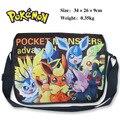 2017 Bolsa de Dibujos Animados Pokemon Eevee Hatsune Miku Bolsa de Mensajero Bolsa de Lona Del Hombro Sling Pack de Bolsas de la Escuela