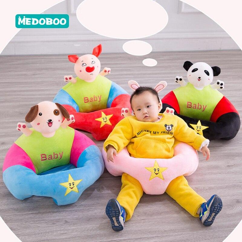Medoboo Cartoon Baby Learn Sit Sofa Animal PP Cotton Infant Seat Cushion Feeding Support Children Trainer 30
