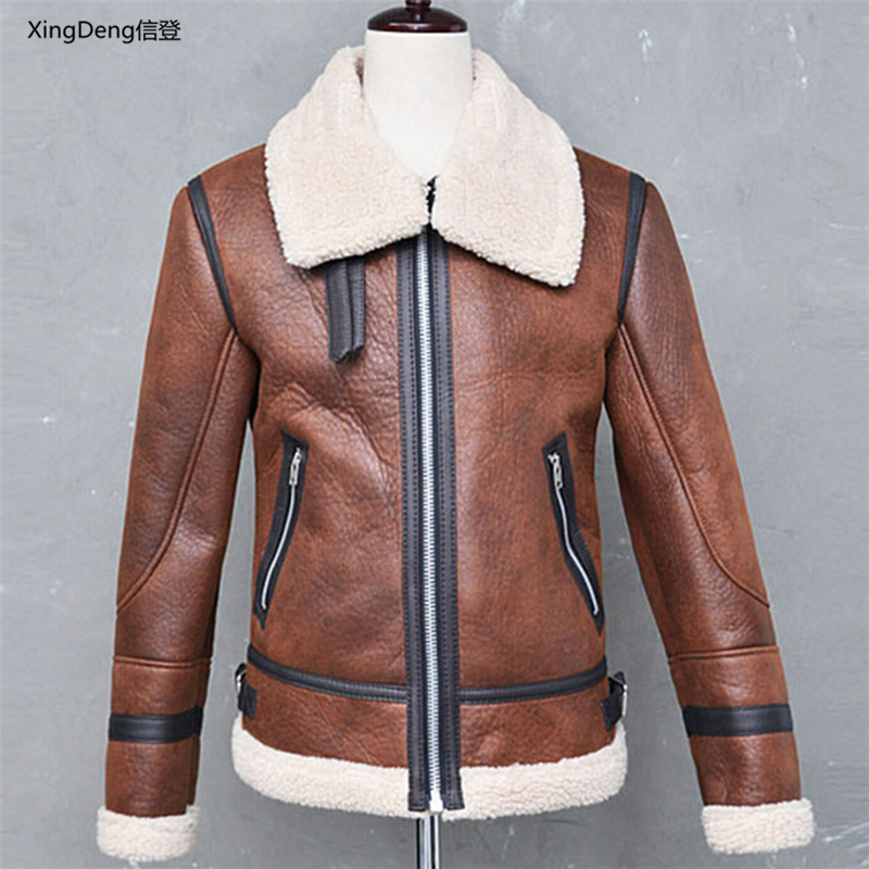 XingDeng Motorcycle Solid Color Zipperjacket Cardigan  Bomber Warm Jackets Zipper Cotton Fashion Men's Top Coat Plus Size 4XL