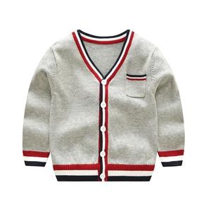 Image 1 - Vinnytido suéter de Navidad para niños, suéteres de un solo pecho con cuello en V, cárdigan de punto a rayas