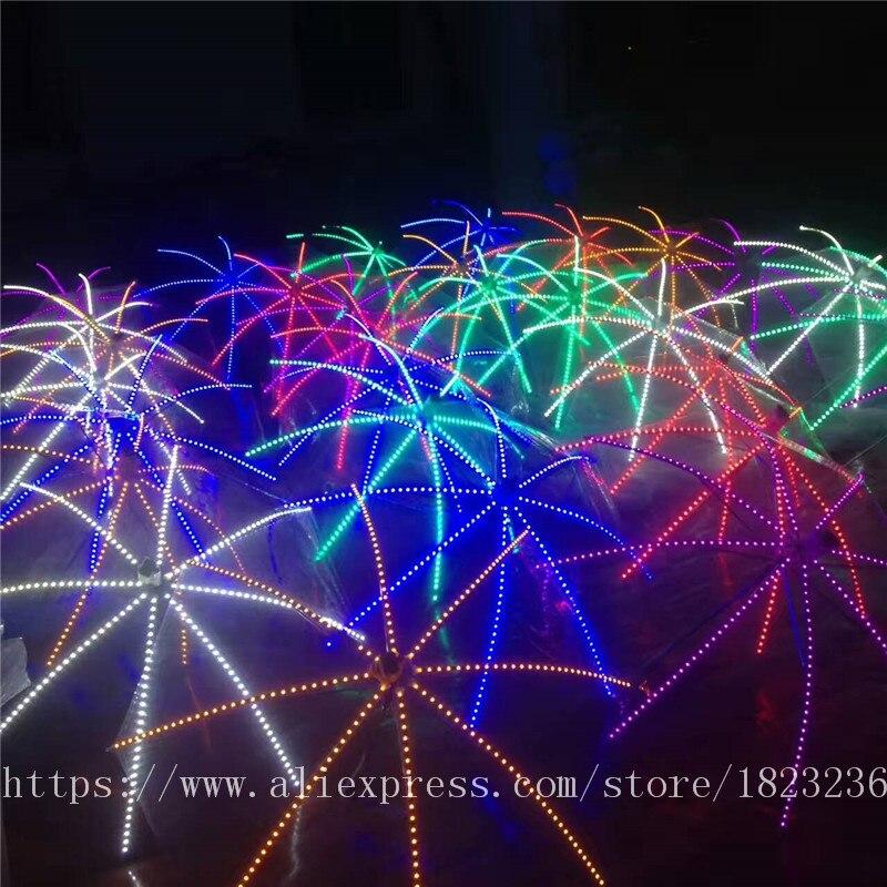 2019 Новый высокое качество Цвет лазерные перчатки Хэллоуин бар, ночной клуб Stage Show светящиеся очки перчатки реквизит вечерние Одежда для тан... - 5