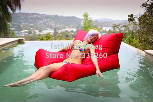 Cover Only No Filler Sunbrella Indoor Outdoor Bean Bag Chair In Red TV Beanbag Gamer Sofa Lounger Living Room Sofas From Furniture On