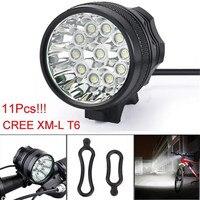 Super Bright LED28000LM B2 11 x Światła XM-L T6 LED 8x18650 Światła Wodoodporna Lampa Rowerowa Jazda Na Rowerze Wholesales & sprzedaje