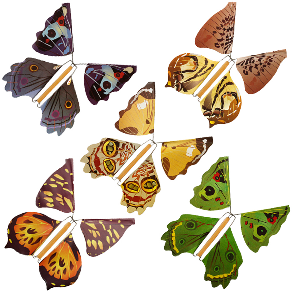 5pcs Magic Hand Transformation Fly Butterfly Tricks Props Surprise Prank Joke Toys M09