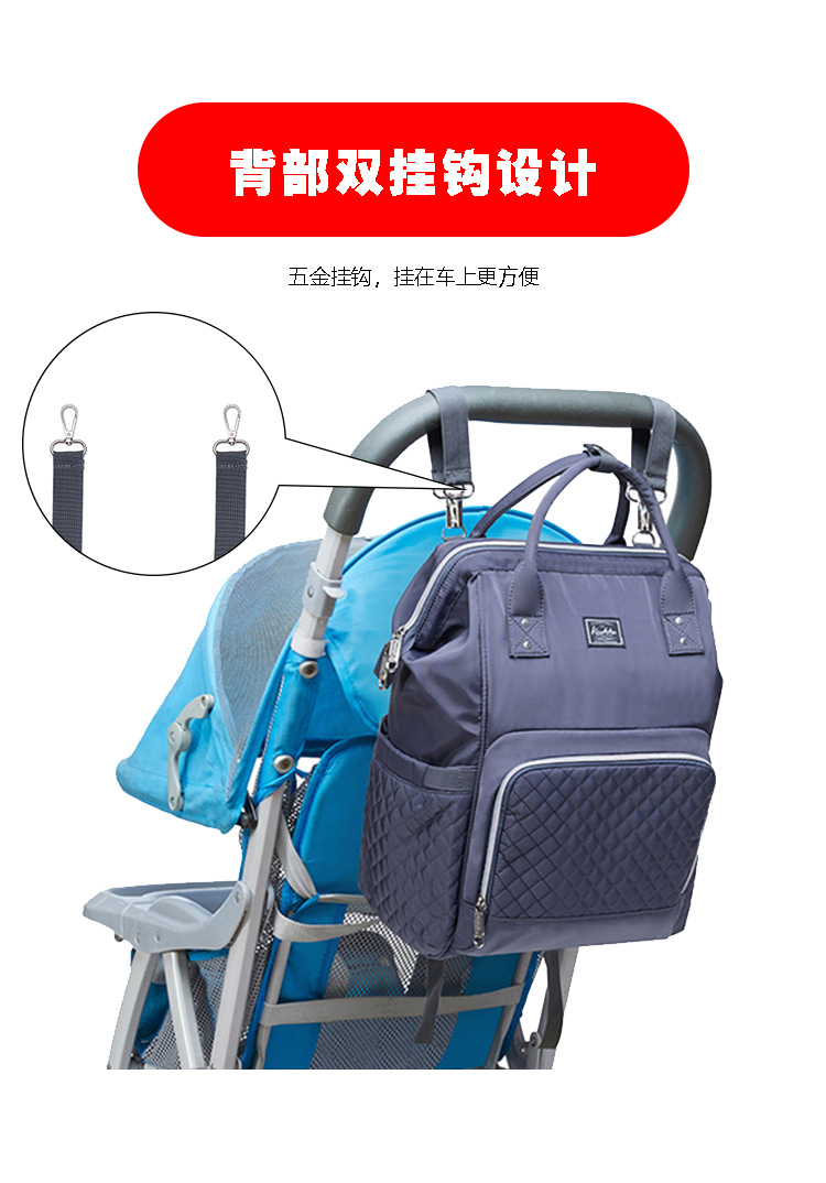 2019 new fashion Diaper bag multi-function Mummy Maternity Nappy Bag Brand Large Capacity Travel Backpack Designer (5)