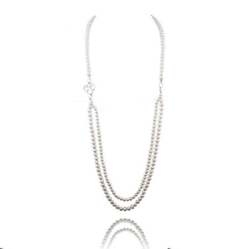 RUNZHUQIYUAN 2017 100% натуральный пресноводный жемчужное длинное ожерелье настраиваемая длина настоящий жемчуг, бисер настоящий жемчуг для Для женщин Подарки