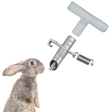 где купить 10Pcs/15Pcs Rabbit Automatic Nipple Water Feeder for Rodents Waterer Rabbit Nipple Drinking Tools Drinkers for rabbits дешево