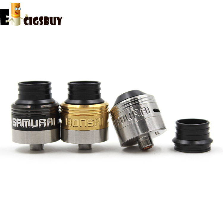 Newest Samurai Bonsai V2 Styled E Cigarettes RDA Rebuildable Dripping Atomizer Electronic Cigarette Atomizer Rda Atomizer