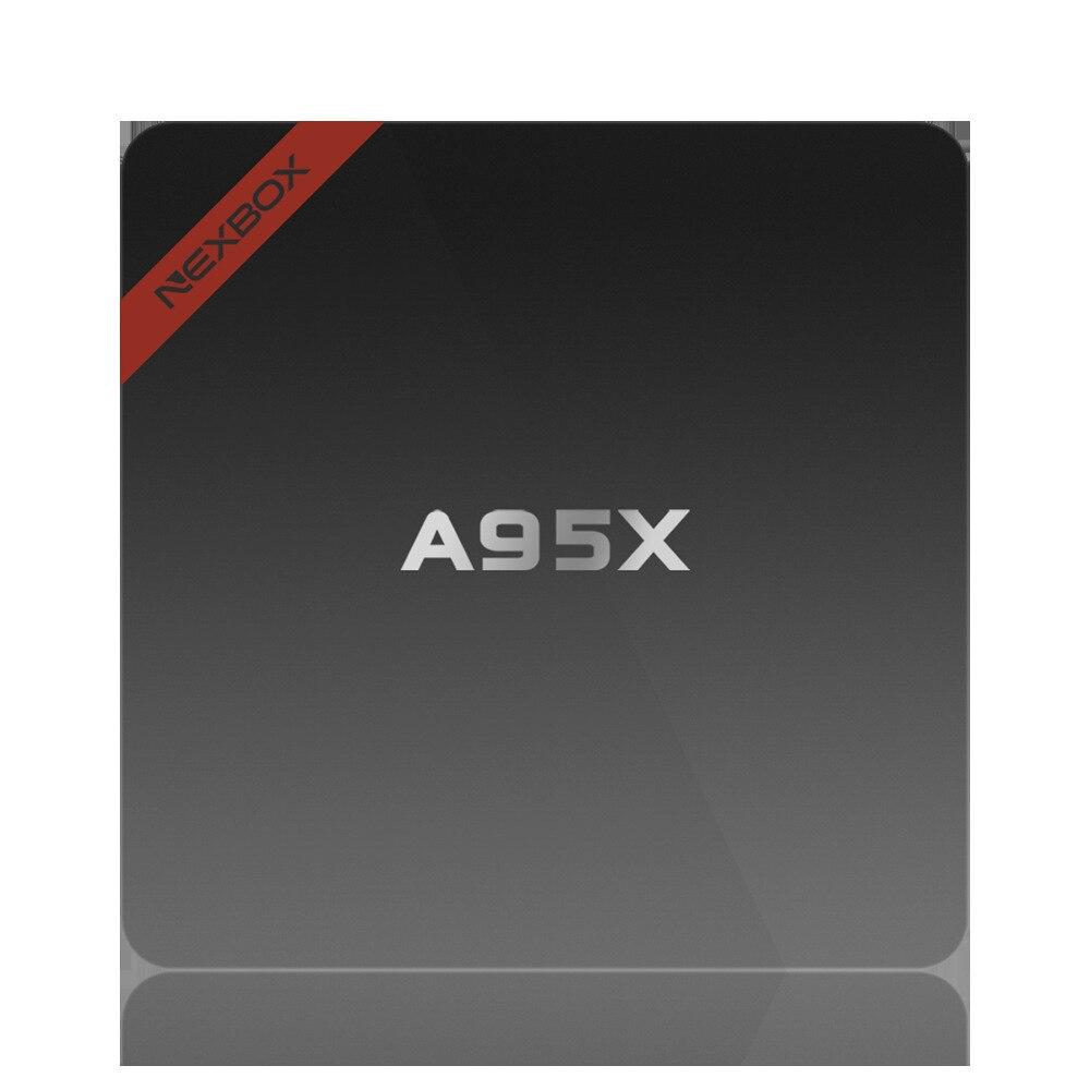 TVBOX 2 GB RAM 16 GB ROM NEXBOX A95X Smart Android TV caja Android 7,1 Amlogic S905W Quad core 64Bit WiFi 4 K HD Media Player PK X96