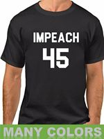 Men's Impeach 45 Anti Donald Trump Protest Political Shirt President Resist2019 fashionable Brand 100%cotton Printed Round N