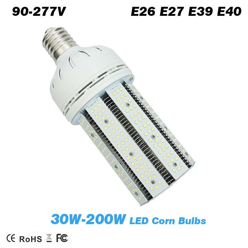 30W-200W LED Corn Bulb lamp E26 E27 E39 E40 base replacement High bay lights Parking Lots Street Road Lighting led bulb lamps e27 e26 e39 e40 5730smd