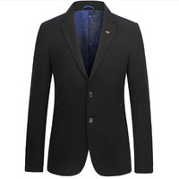 Autumn Winter Mens Wool Blazers Casual Suits Slim Fit Men Blazers And Jackets Brand Clothing OUTWEAR S 3XL