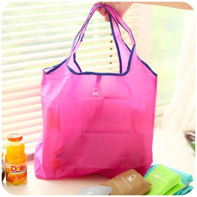 Foldable Ping Bag Eco Chic Colorful 9 Colors Washable Large Capacity Portable Fashion Handbags Reusable