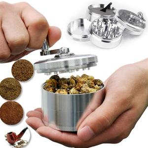 55MM 4 Layers Tobacco Spice Grinder Herb Weed Grinder with Mill Handle Salt and Pepper Mills Kitchen Tools