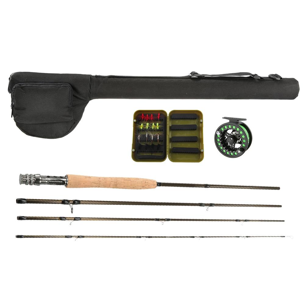 Lixada fly fishing rod reel combo kit set fishing starter for Fly fishing starter kit