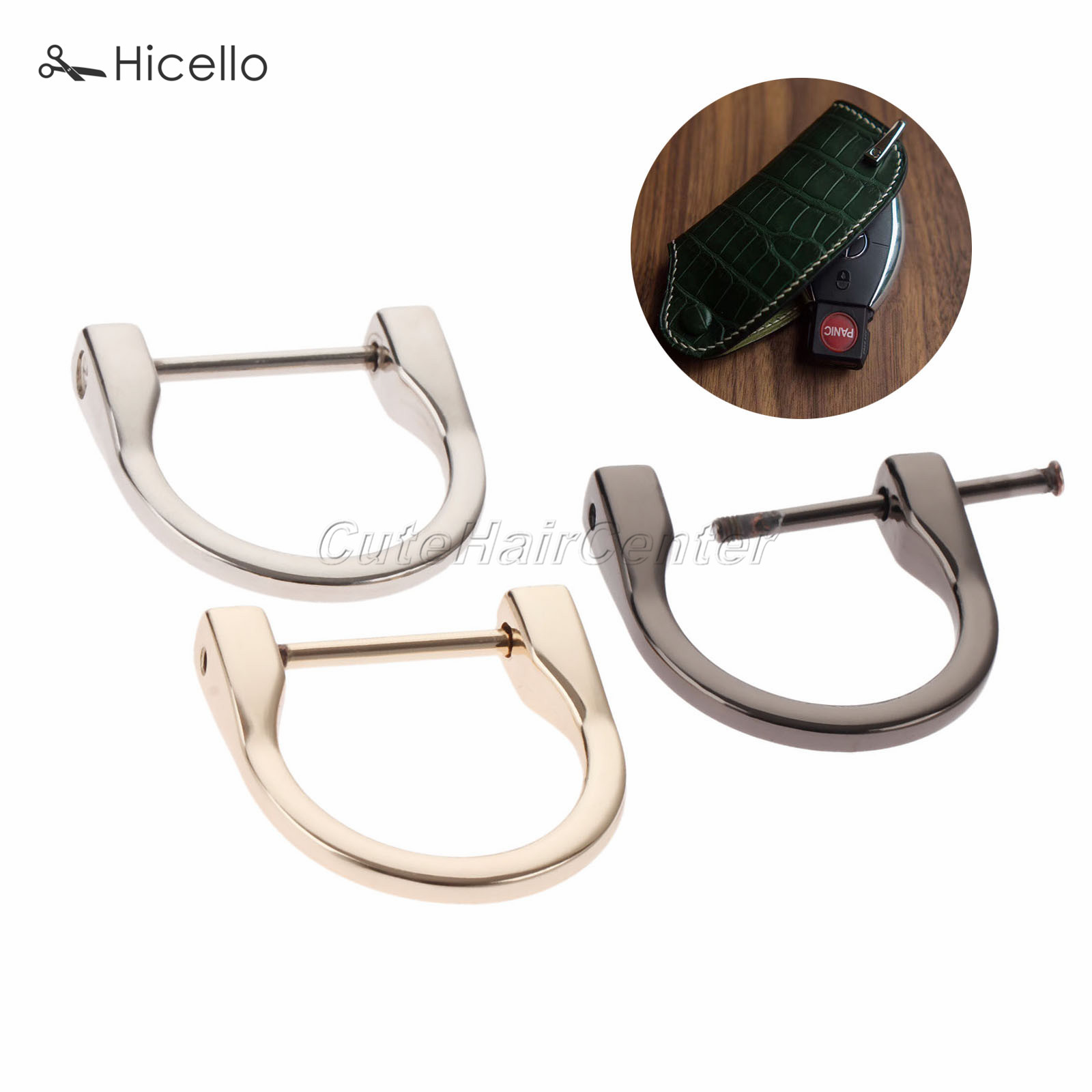 2Pcs Metal D Rings Buckles for belt buckle