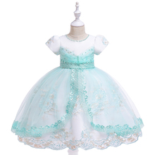 Kids New Princess Dress Children Formal Vestidos Toddler Christmas Dress Girls Lace Dress for Birthday Party Kids Fashion 2019 цена в Москве и Питере