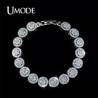 UMODE 여름 보석 도매 최고 품질의 작은 AAA CZ 패션 매력 팔찌 비쥬 팜므 선물 AUB0007