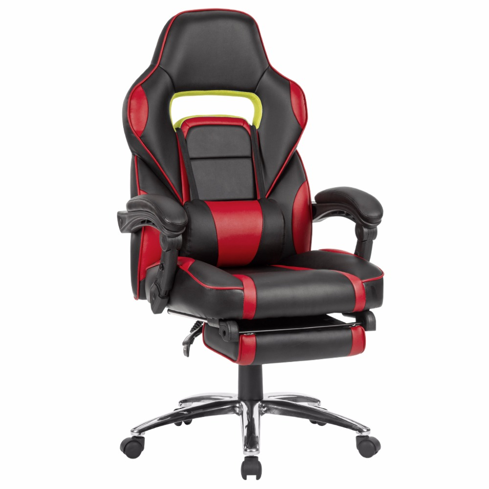 Cool Us 80 24 25 Off Langria Ergonomic High Back Faux Leather Racing Style Reclining Computer Gaming Executive Office Chair With Padded Footrest In Inzonedesignstudio Interior Chair Design Inzonedesignstudiocom