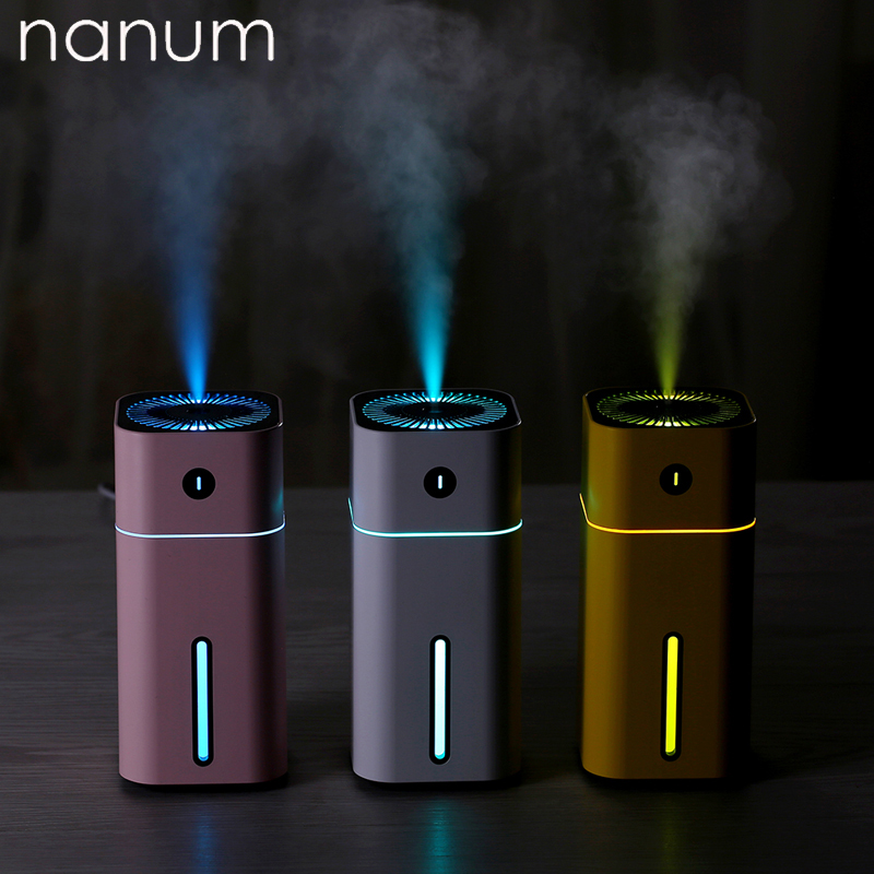 Aroma Essential Oil Diffuser Mini Ultrasonic Square D Humidifier Air Purifier LED Night Light USB Car Air Freshener For Office