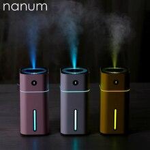 Aroma Ätherisches Öl Diffusor Mini Ultraschall Platz D Luftbefeuchter Luftreiniger LED Nachtlicht USB Auto Lufterfrischer Für Büro