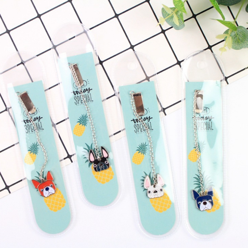 1 Pcs Lovely Cool French Bulldog Pendant Bookmark Stationery School Office Supply ...