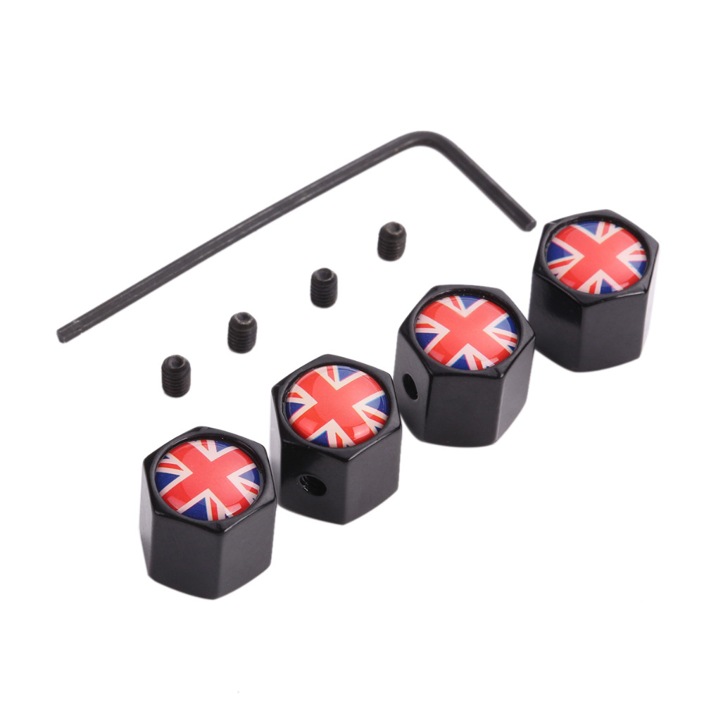 4Pcs Lot Flag Car Sport Logo Wheel Tire Valve Stem Air Caps Styling Stainless Steel For France USA Germany Italy Britain in Car Stickers from Automobiles Motorcycles