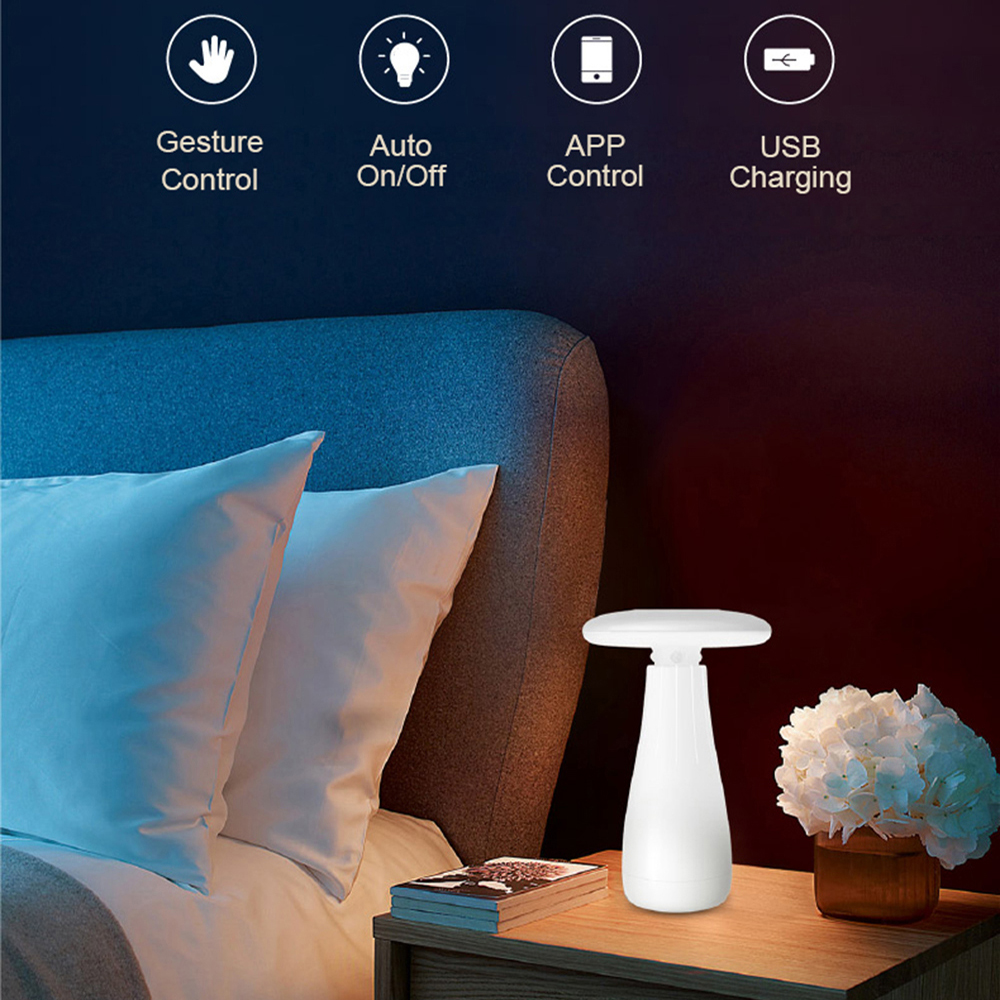 Roome Table Desktop Lamp Led 3D Gesture Control Smart Led lamp Desk Lamp Auto On/off App Control USB Charging Table Lamp Led tyson taisuo xmt 6000 temperature control table thermostat xmtd 6401 smart table