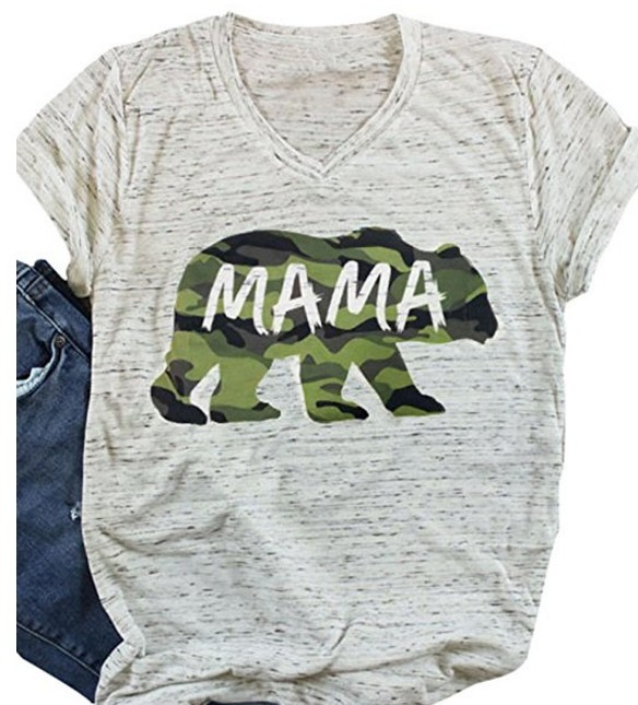ladies women t-shirts tee mama bear top womens cute female tshirt t love thankful tops comfort elegance cute tee shirt
