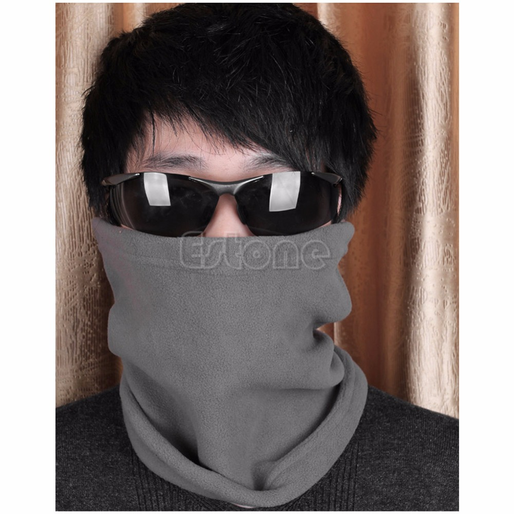 1 PC Adjustable Outdoor Sport Warm Mask Hat Thermal Fleece Cap Scarf Colorful