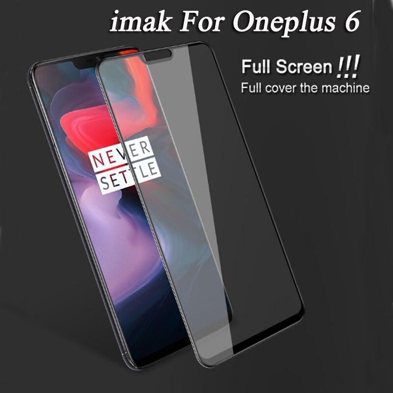 D'origine imak Marque Pour Un plus 6 Couvercle Plein écran en verre trempé film Pour Oneplus 6 Un plus6 protection complète écran Film