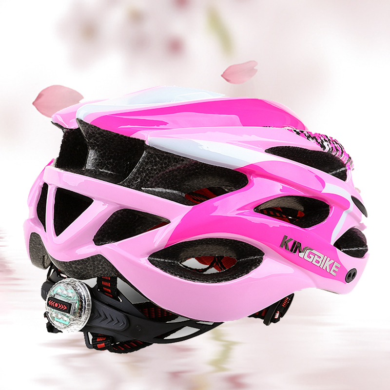 KINGBIKE Cycling Helmet Pink Woman Road Bicycle Helmet Ultralight Mountain Bike Helmet Eps MTB Cycling Helmet Light Protone Kask wheel up integrally aerodynamic eps lens cycling helmet ultra light mountain bike helmet mtb bicycle helmet byclcle accessories