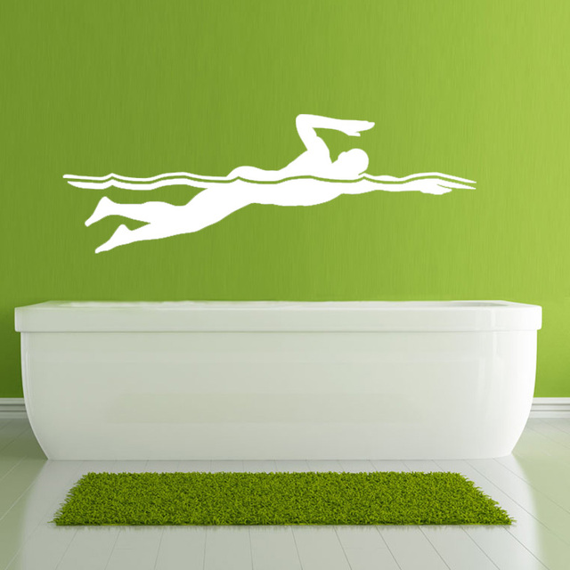swimming front crawl wall stickers large size home decor living room