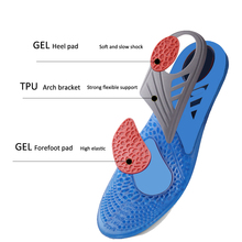 High Quality Gel insole Massaging Insoles for foot pain relieve Sport running pads shock absorption insole