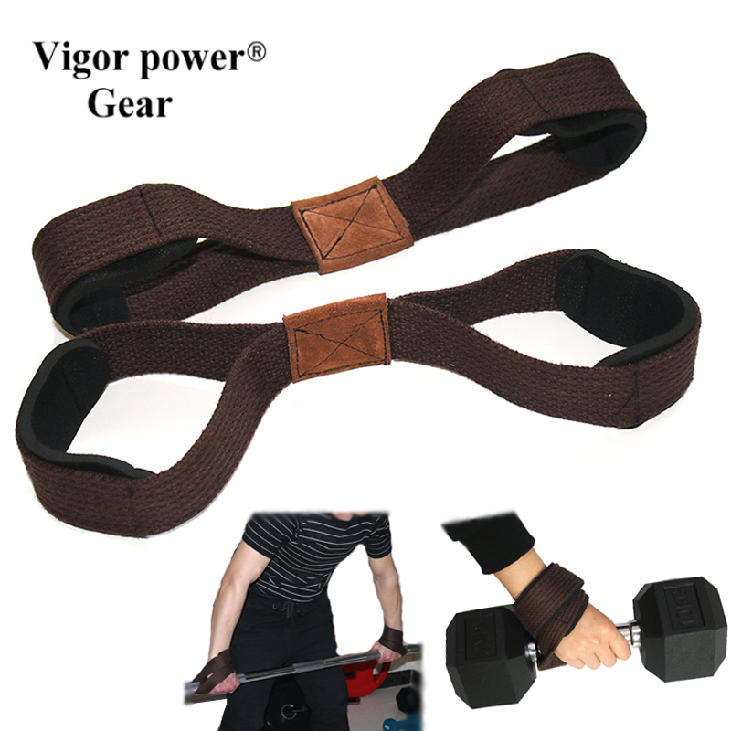 2pcs lifting straps Barbell wrist straps 8 shaped weight lifting straps Gym Fitness Cross fit Bodybuilding
