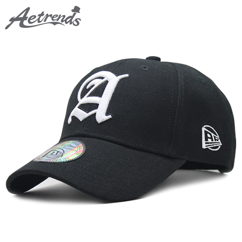 [AETRENDS] Fashion 2018 Black Cap Man Luxury Brand Outdoor Sport Baseball Caps for Men Hat Baseball Hats Bone Masculino Z-6392