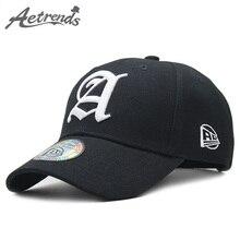 [AETRENDS] Fashion Black Cap Man Luxury Brand Outdoor Sport Baseball Caps for Men Hat Hats Bone Masculino Z-6392