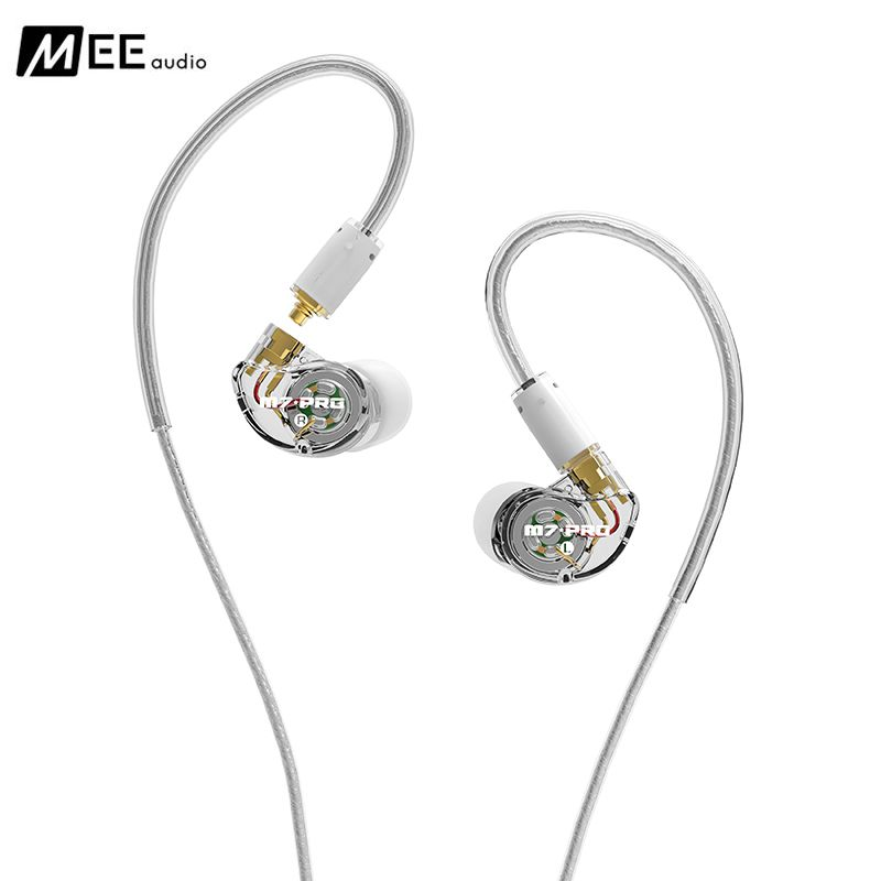 New Wired earphone MEE audio M7 PRO Universal-Fit Hybrid Dual-Driver Musician's In-Ear Monitors with Detachable Cables with box dhl free 2pcs black white m6 pro universal 3 5mm wired in ear earphone noise isolating musician monitors brand new headphones