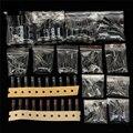 Новые 15 значение 120 шт. 50 В 1 мкФ-2200 мкФ Цилиндрический Электролитический Конденсатор Ассортимент Комплект Новое Прибытие