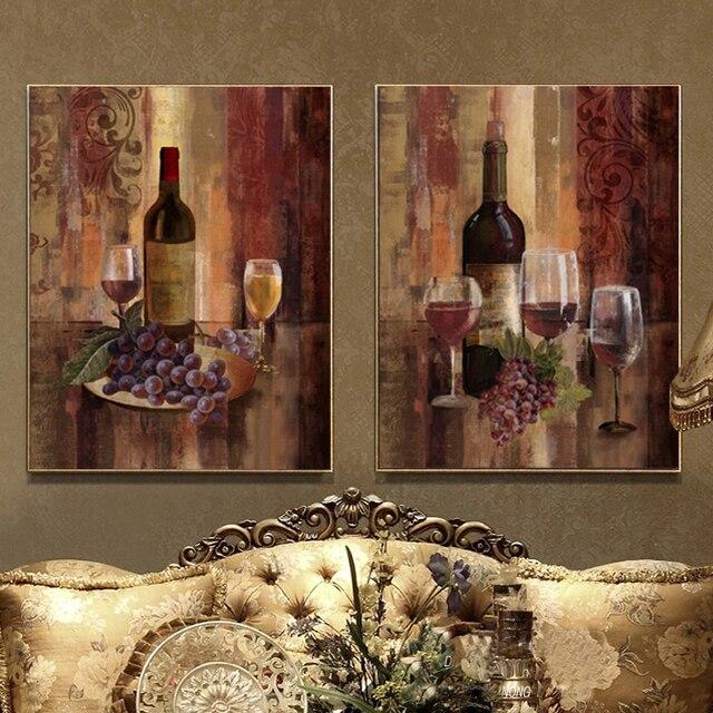 Wine Grape Painting Still Life Canvas Wall Art Home Decor Cuadros Modernos For Living Room Cuadros