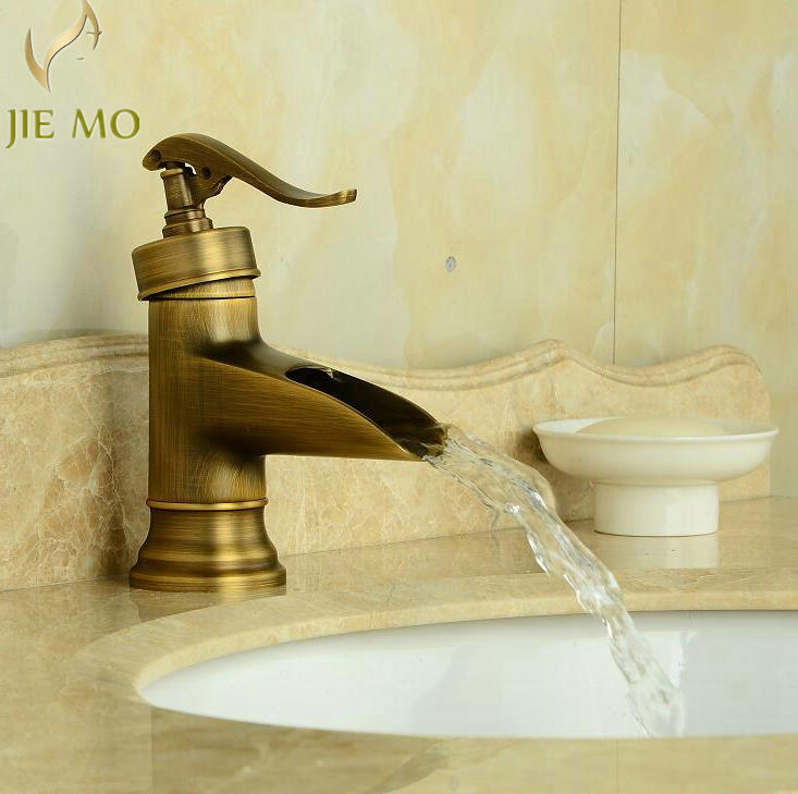 Free shipping Antique Brass Finish Faucet Bathroom Basin Sink Mixer ...