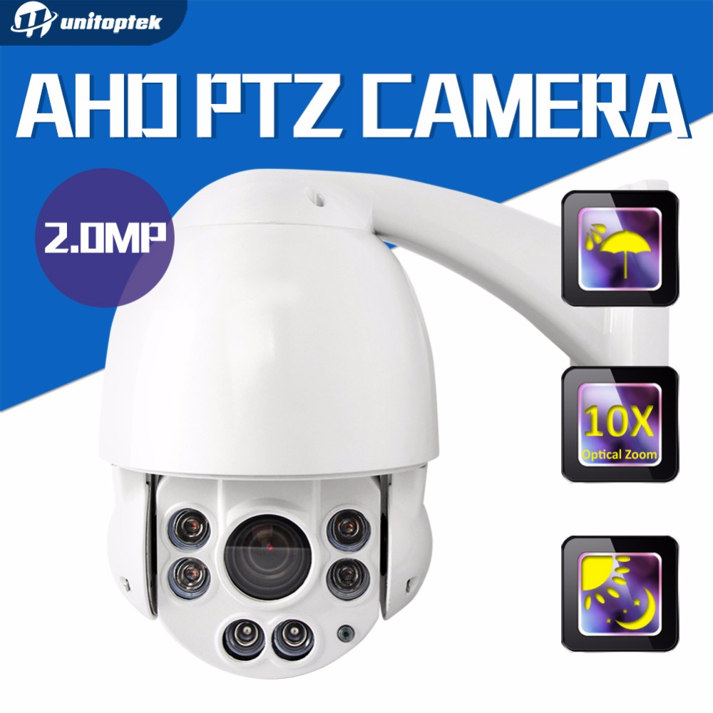 10x Optical Zoom CCTV HD 1080P Speed Dome AHD PTZ Camera Outdoor Night vision IR 50M AHD CAMERA 2MP 4 Inch Housing new 2mp hd cctv ahd camera 1080p zoom 2