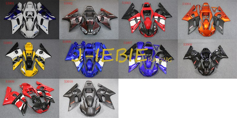 ABS Injection Fairing Body Work Frame Kit for Yamaha YZF 600 R6 1998 1999 2000 2001 2002