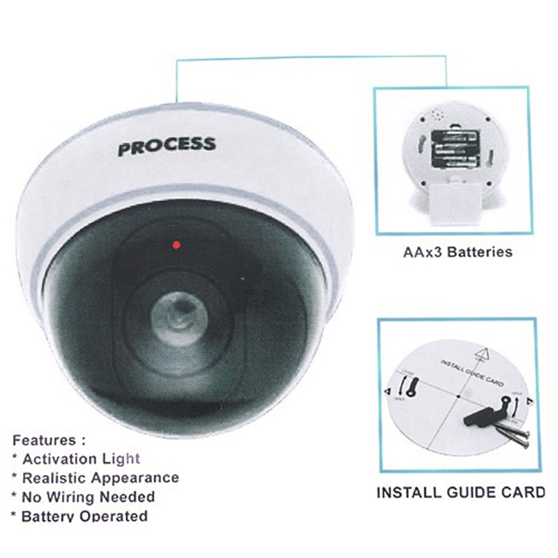 Wireless Dummy Dome Security Camera Flashing Red Light Safety Deter Crime Fake Home System Surveillance In Cameras From
